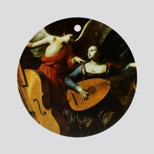 Saint Cecilia and the Angel by Sara Round Ornament